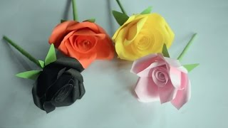 Very Easy and Simple to make Paper Rose (Origami Rose)