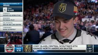 Glass excited for Vegas Golden Knights
