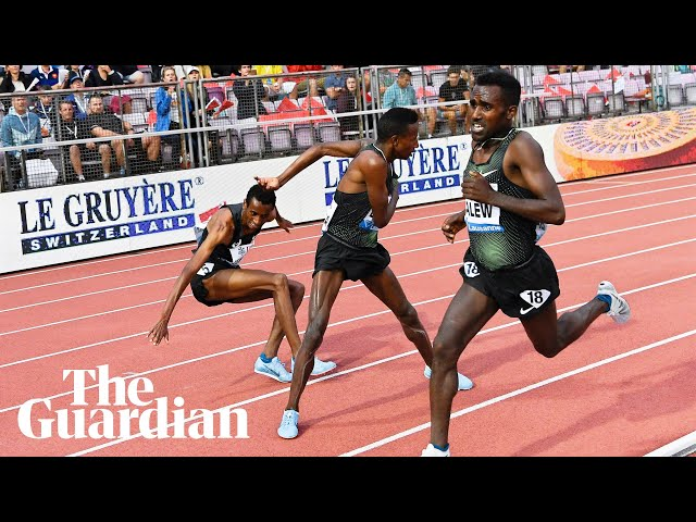 Shorts-pulling incident mars men's 5,000m at Diamond League