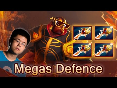 Secret vs Vega mega creeps Ember Spirit Rapiers defence — Dota 2