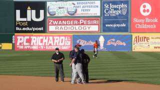 Somerset Patriots vs Long Island Ducks -Coach Shane Spencer gets thrown out of game