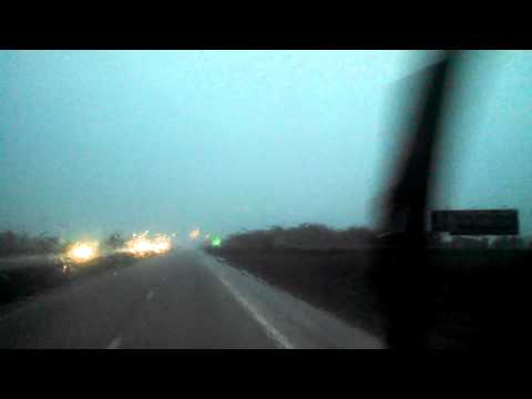 Driving through a tornadic storm cell