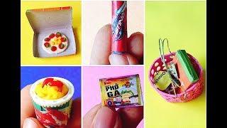 Đồ chơi trẻ em cách làm thức ăn cho búp bê   Làm đồ cho búp bê   SÒ DIY