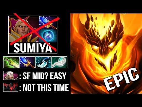 EPIC Pro Shadow Fiend Mid vs SumiYa Invoker God! One of The Best Raze Users Sakata Epic Game Dota 2