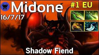 Midone [Secret] plays Shadow Fiend!!! Dota 2 7.21