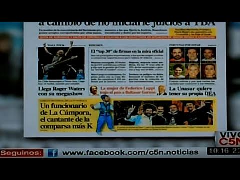 Tapas de Diarios Argentinos Hoy Buenos Aires Marzo 2012 Edicion Impresa Clarin Noticias La Nacion