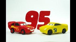Cruz Ramirez Dinoco #51 Trains Cars 3 Lightning McQueen Accident PRANK by Disney Pixar Jackson Storm