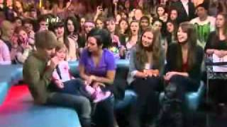 Justin Bieber & his little sister Jazmyn on Much Music Show interview Feb.1.2011 LIVE ( Part 1 )