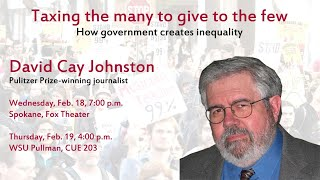How Government Creates Inequality - David Cay Johnston