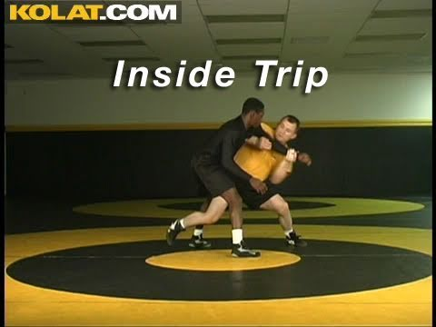 Inside Trip from Russian Tie KOLAT.COM Wrestling Techniques Moves Instruction Image 1