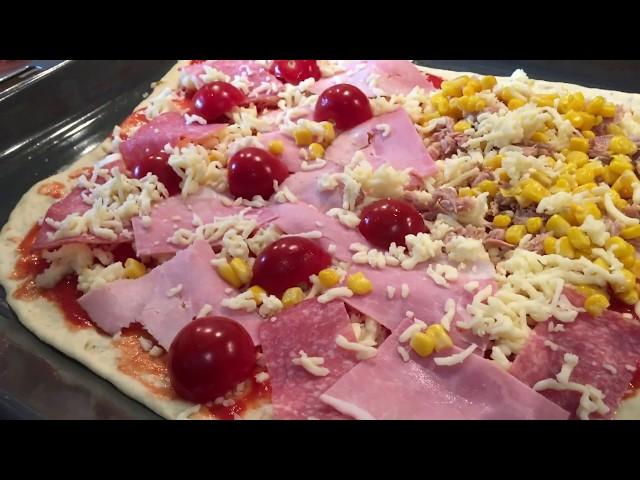 Готовим быстро и вкусно//Муж на кухне//Пицца