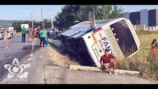 Accident Catcau autocar Fany rasturnat, sofer Salaj incarcerat (Cluj) 19 07 2017
