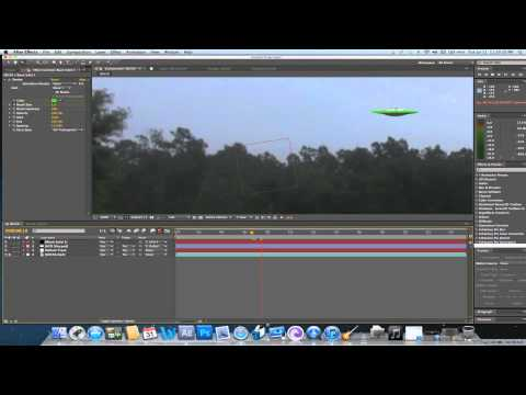 Making A UFO Hoax (Motion Tracking)- After Effects CS5 Tutorial