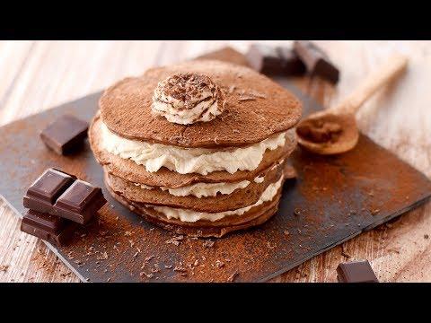 Recette facile : le millefeuille de pancakes au chocolat