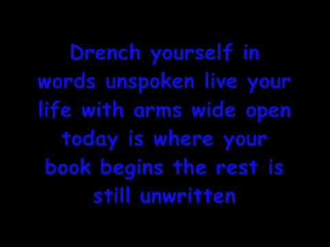 Natasha Bedingfield unwritten lyrics