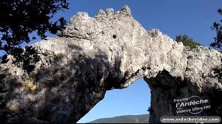 Ardèche - Arche le Ranc de l'Arc (vallée de l'Ibie) (4K)