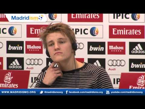 Real Madrid signing Martin Odegaard full English press conference