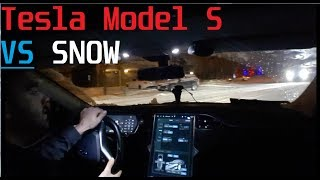 Tesla Model S Vs Snow (Canada)
