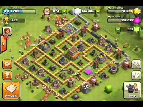 Clash of clans replay battle!