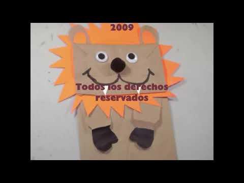 Como hacer un leon con una bolsa de papel reciclada