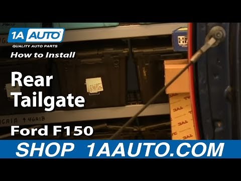 How To take Off and Install Rear Tailgate 04-13 Ford F150 and Most Trucks
