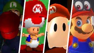 Evolution of Mario's Cap in Super Mario Games (1996 - 2018)