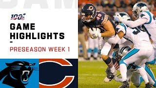 Panthers vs. Bears Preseason Week 1 Highlights | NFL 2019