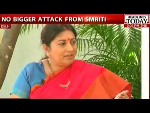 Exclusive Interview: Smriti Irani Attacks Rahul Gandhi On Food Park Issue