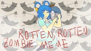 [touhou] rotten rotten zombie meme | body horror + blood  tw