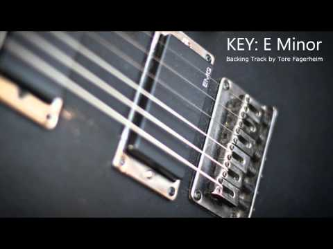 E Minor - Heavy Rock / Metal Guitar Backing Track