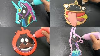 Fortnite Pancake Art - Rainbow Smash, Durr Burger, Loot Llama, Tomato Head