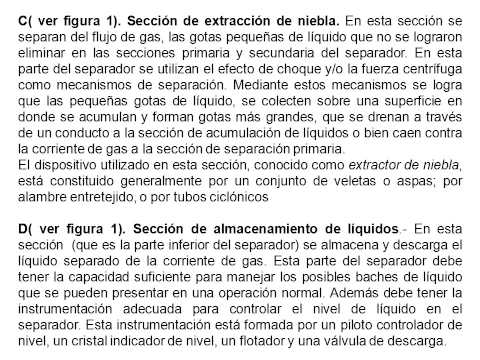 Descripción y principio de funcionamiento de los separadores cilíndricos petroleros bifásicos