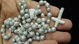 Custom Real Diamond French Montanna Coke boy Style Rosary : Item No : DR1245