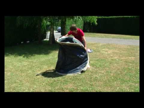 How to fold a quechua 2 seconds pop up tent away