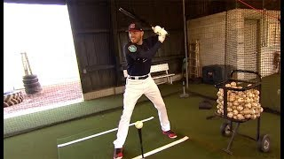 Braves star Freddie Freeman gives in-depth tutorial on how to hit off a tee