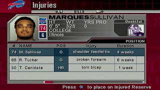 ESPN NFL 2K5 BILLS FRANCHISE SPORTSCENTER RECAP EP1 SEASON 2