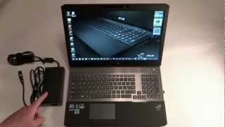 ASUS G75 Laptop Overview and Boot Up (Best Buy Version VW-BBK5)