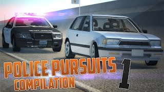 BeamNG.Drive Police Pursuits Compilation #1 - [Crashes and Rollovers - HD]