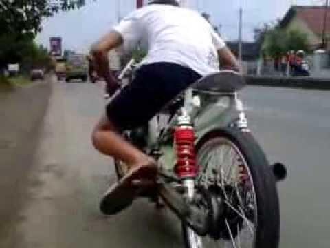 Drag bike Jupiter z 130 setting best time 8,9 detik - YouTube