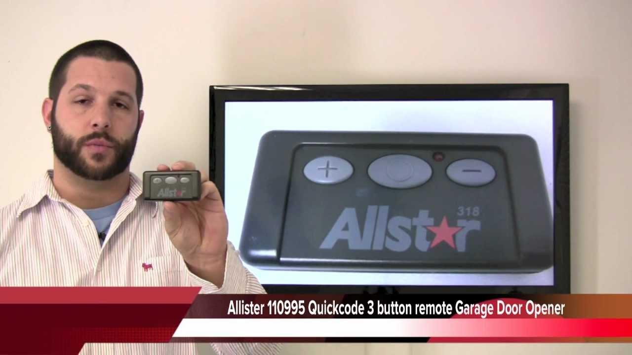 Allister 110995 Quickcode 3 Button Remote Garage Door