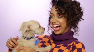 Liza Koshy Plays With Puppies While Answering Fan Questions