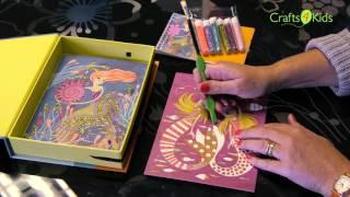 Djeco Glitter Art Mermaids at crafts4kids.co.uk