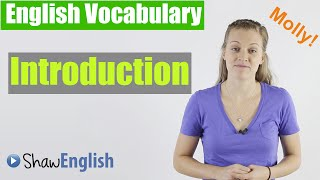 English Vocabulary Introduction, Shaw English Vocabulary