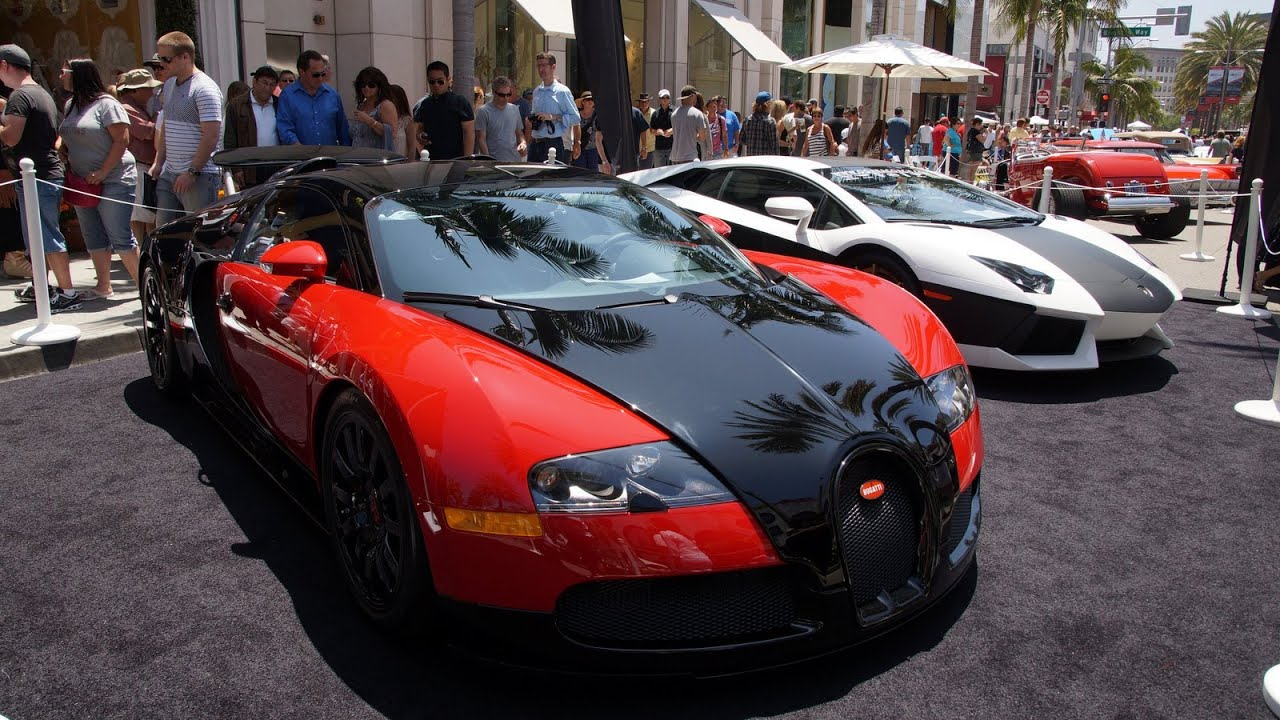 bugatti veyron and lamborghini aventador on rodeo youtube. Black Bedroom Furniture Sets. Home Design Ideas