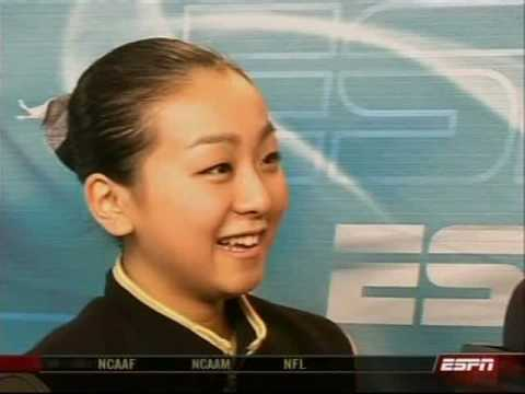 Mao Asada Interview  - 2007 GPF  (ESPN)