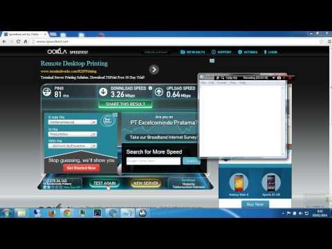 Speedtest kecepatan internet 4G LTE XL Axiata di pelosok desa di Indonesia