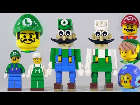 How To Build: LEGO Luigi + new Mario, Link & Mega Man