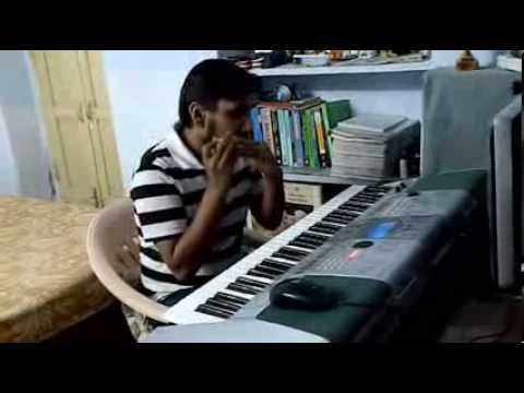 Zindagi ek safar hai suhana harmonica and keyboard cover