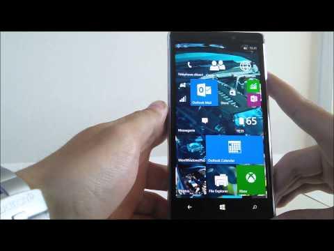 Aperçu Windows 10 mobile Technical Preview (Build 10080)