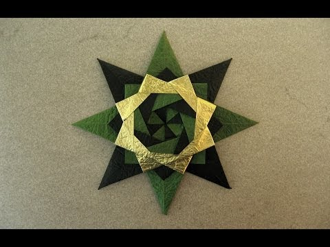 Christmas Origami Instructions: Braided Corona Star (Maria Sinayskaya)